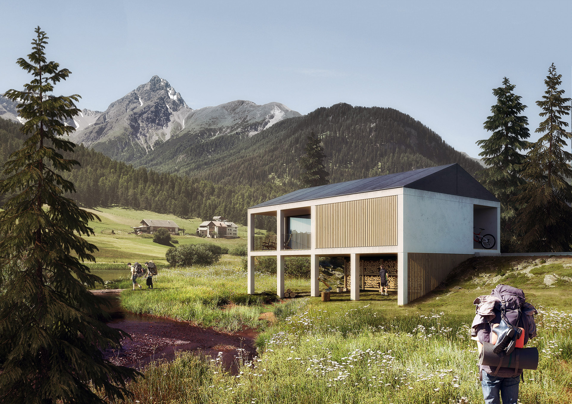 Swiss made plastic house