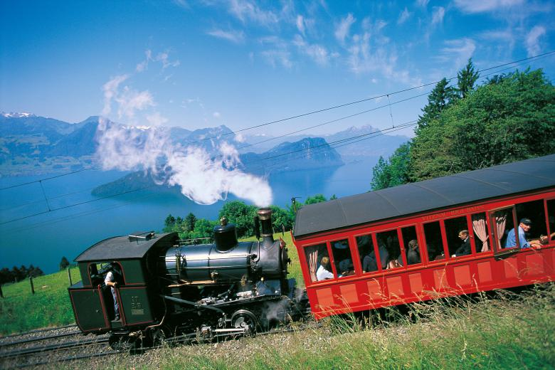 Europe's first mountain railway: the cog railway from Vitznau to the Rigi Photo © Rigi Bahnen AG