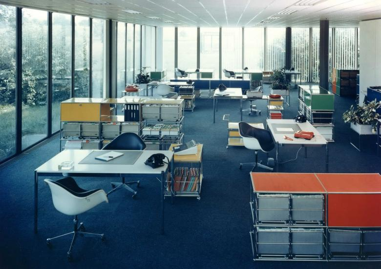 """USM Modular Furniture Haller"" could be found around the world in 1968"