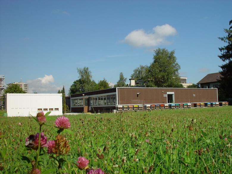 One of the Bee Research Centre buildings in Liebefeld