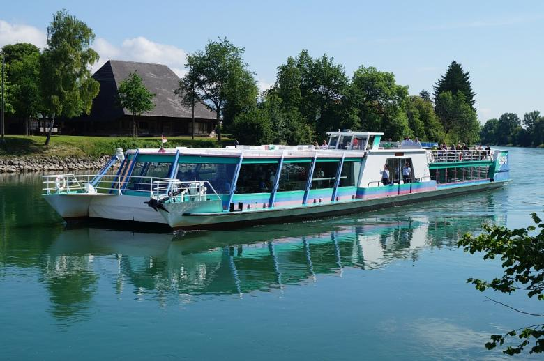MS Siesta near Büren on the Aare, © Bielersee Schifffahrt