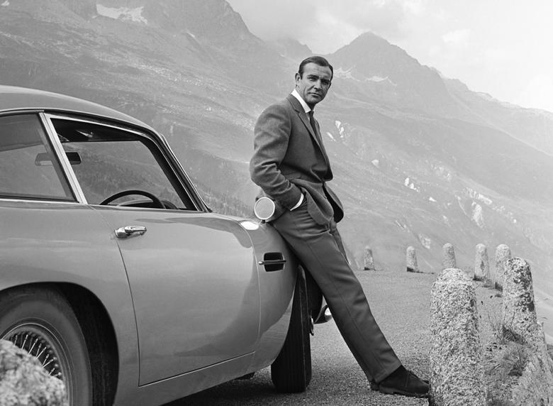 James Bond waiting at the Furka Pass