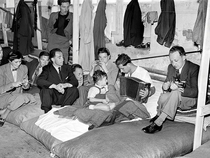 Refugees in the camp at Diepoldsau in August 1938