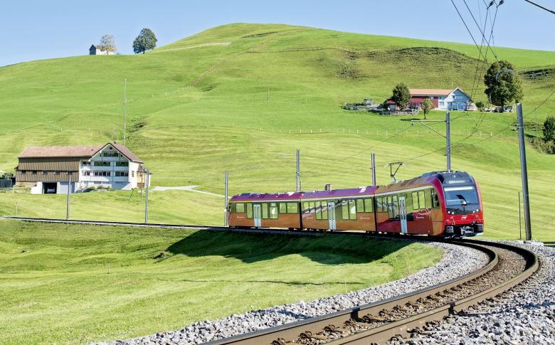 The Appenzell Railway on the Gossau-Appenzell-Wasserauen line, © Appenzeller Bahnen AG