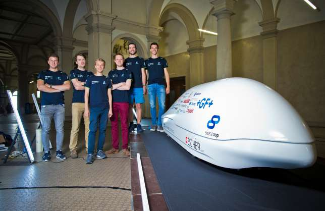 The Swissloop team comprises 40 students of physics, mathematics, electricity and mechanical and civil engineering from the ETH Zurich.