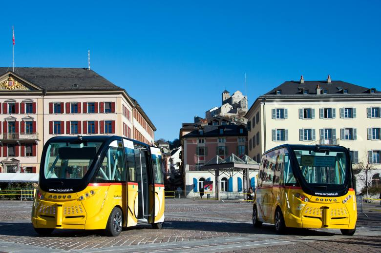 2.	The self-driving shuttles operated by PostBus, a subsidiary company of the Swiss Post, can carry up to 11 passengers.