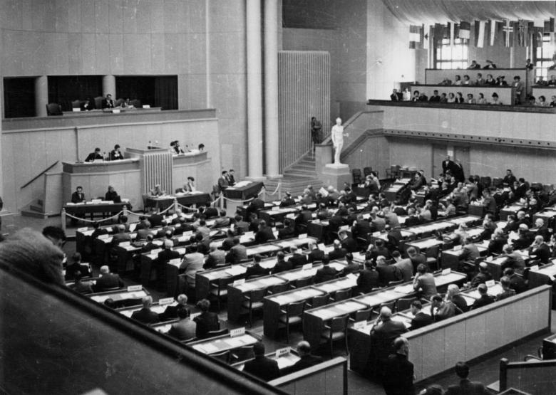 1949 Diplomatic Conference of Geneva for the establishment of international conventions for the protection of war victims © ICRC archives (ARR)
