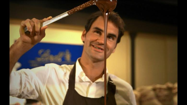 Roger Federer discovers the LINDT Difference