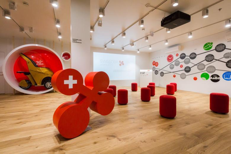 Платформа 'Swissnex mobile' в Павильоне Швейцарии для науки, образования и инноваций