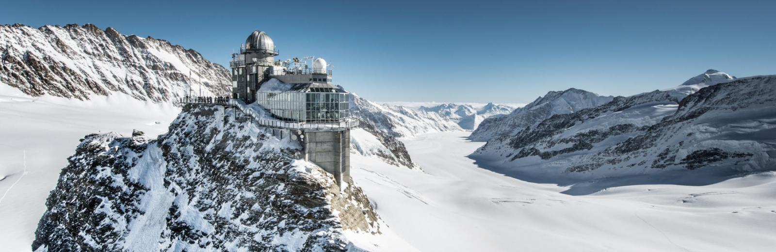 Sphinx Aletschgletscher Jungfraujoch Top of Europe
