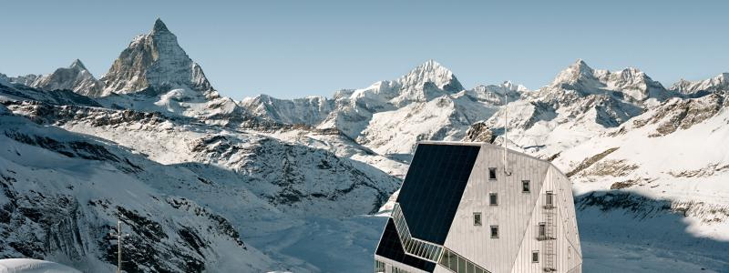 ETH Zurich helped conceptualise the new Monte Rosa hut which lies at the foot of the Monte Rosa massif on the Swiss-Italian border. It is famous for its innovative architecture and is virtually self-sufficient in terms of energy. © ETH-Studio Monte Rosa/Tonatiuh Ambrosetti, 2009