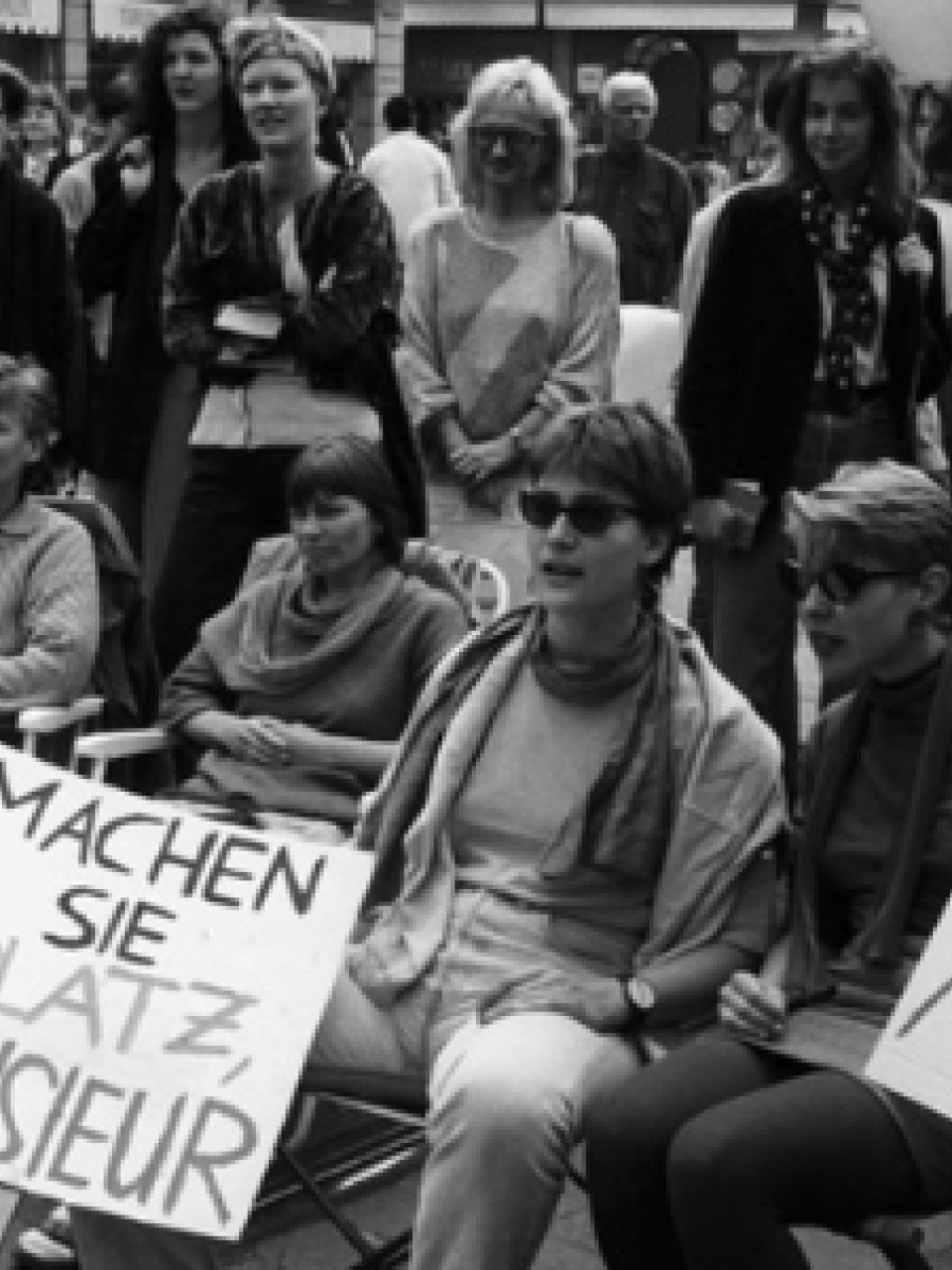 Women on strike in the streets of Zurich, Switzerland, on the occasion of the national women's strike on June 14, 1991 © KEYSTONE/Str