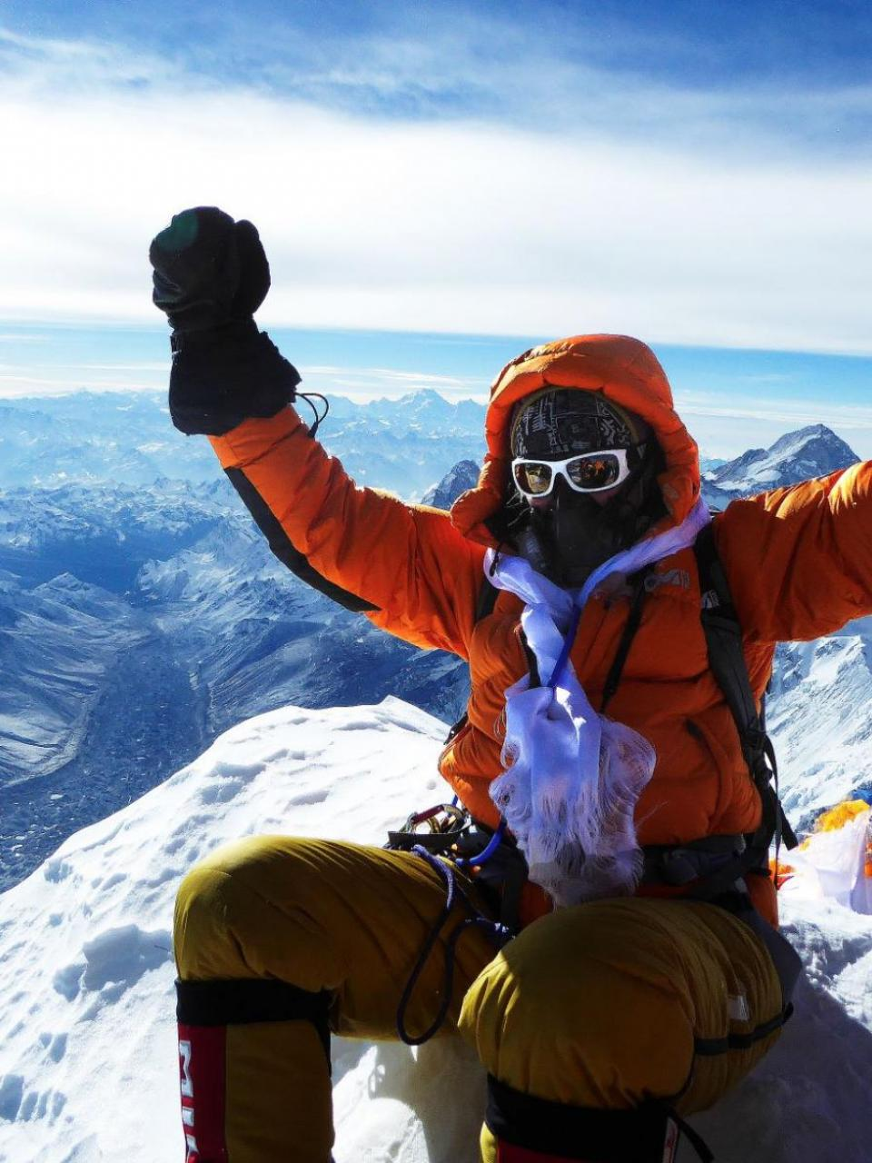 Sophie Lavaud on the summit of Everest