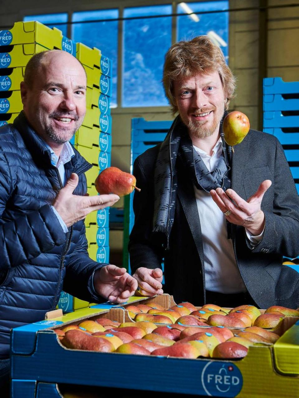 Michael Weber, head of VariCom, and Danilo Christen, creater of the variety © Sedrik Nemeth