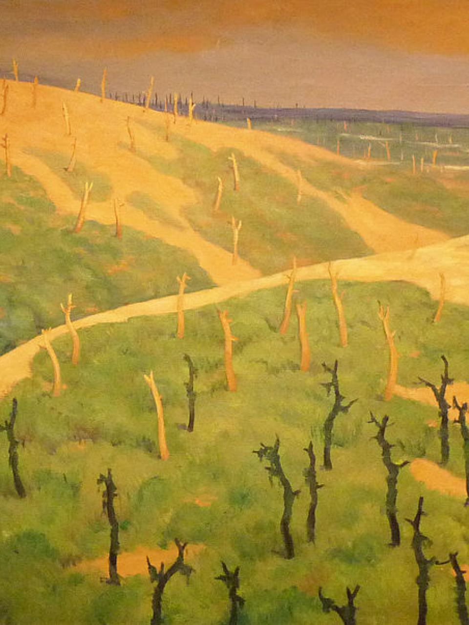 Félix Vallotton, The Gruerie Forest and the Meurissons Ravine, 1917 © Wikipedia Commons