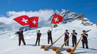 Swiss happy people